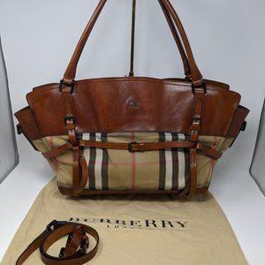 AUTHENTIC BURBERRY Brown Check Shoulder Bag